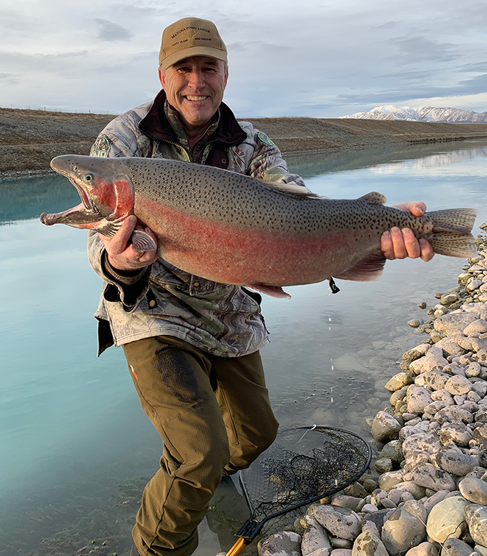 Rainbow Trout Manuka Point Lodge South Island 18lb